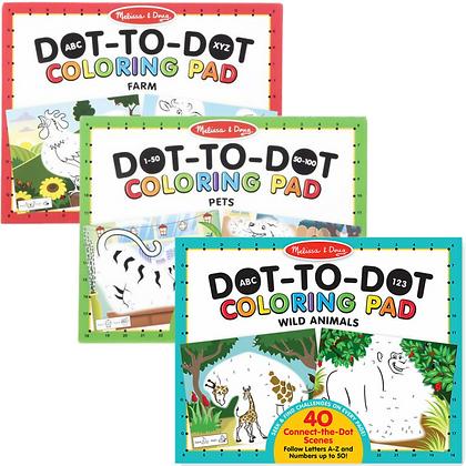 Dot-to-Dot Coloring Pads