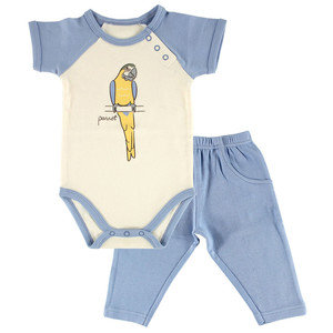 Organic Cotton Outfit - Parrot