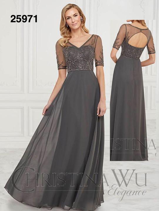 Christian Wu Elegance Line Mother of the Bride dress