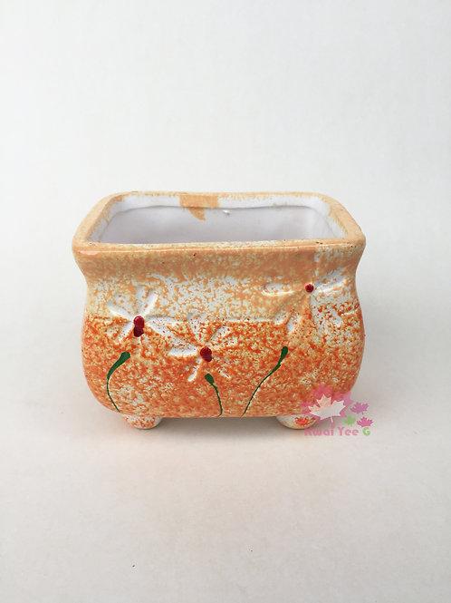 田園風格陶瓷花盆