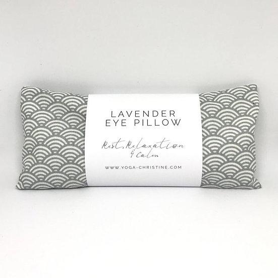 Grey Wave Yoga Eye Pillow