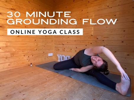ONLINE FLOW CLASS | 30 Minute grounding flow