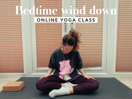 ONLINE CHILLED CLASS | Bedtime yoga wind down