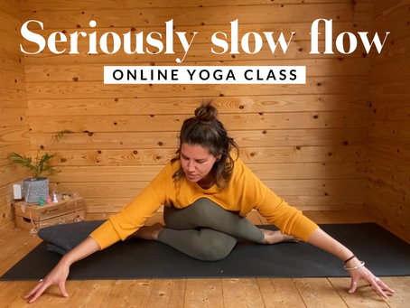 ONLINE CHILLED CLASS | Seriously slow flow (...that you can do in bed)