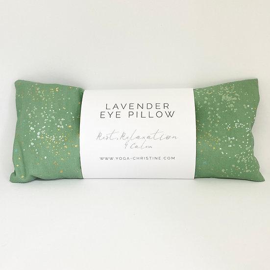 Green Splattet Yoga Eye Pillow