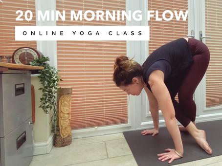 ONLINE FLOW CLASS | 20 min morning flow