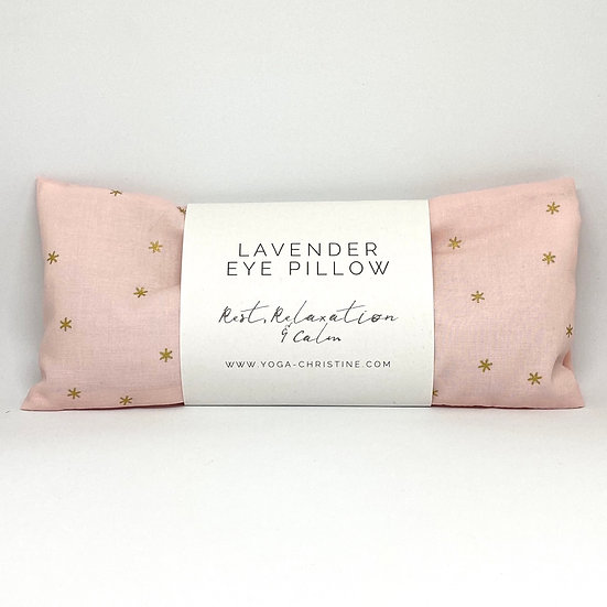 Pink & Gold Star Yoga Eye Pillow