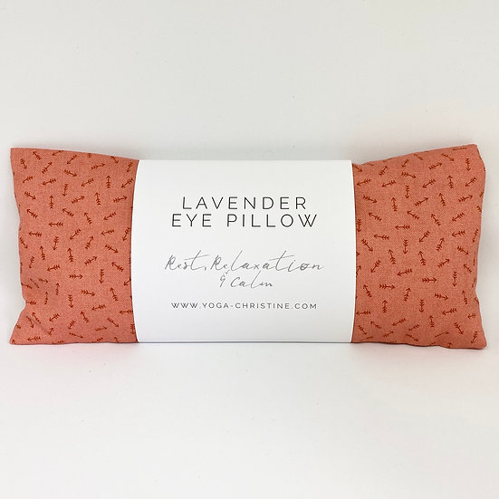 Coral Arrow Yoga Eye Pillow