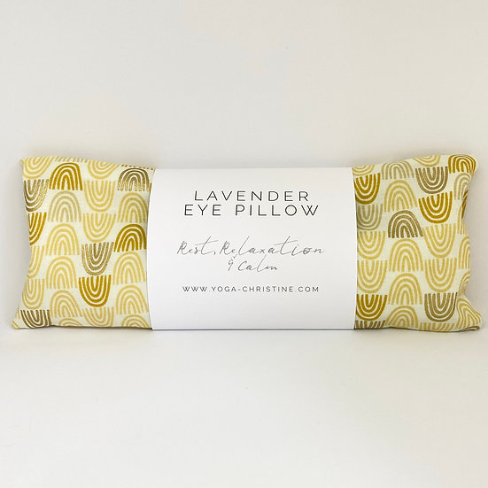Gold Rainbow Yoga Eye Pillow