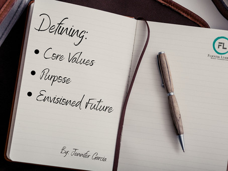 Defining your company's core values, purpose, and envisioned future.