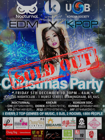 KREAM x Nocturnal x UoB Korean Society Christmas Party 2014