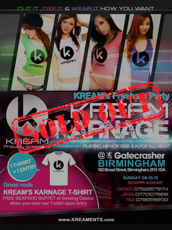 KREAM Karnage Freshers' Party 2013