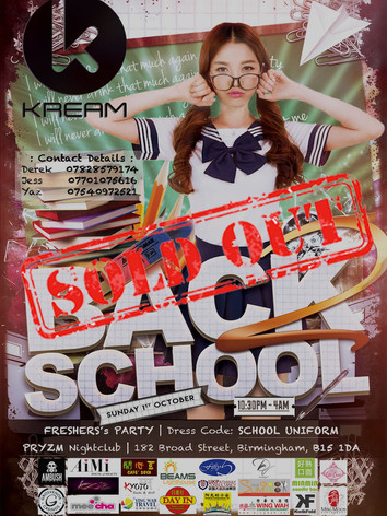 Back 2 School Freshers' Party 2017