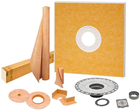 """Schluter Kerdi Shower Kit 48""""x48"""" with PVC Stainless Steel Drain KSK1220PVCE"""