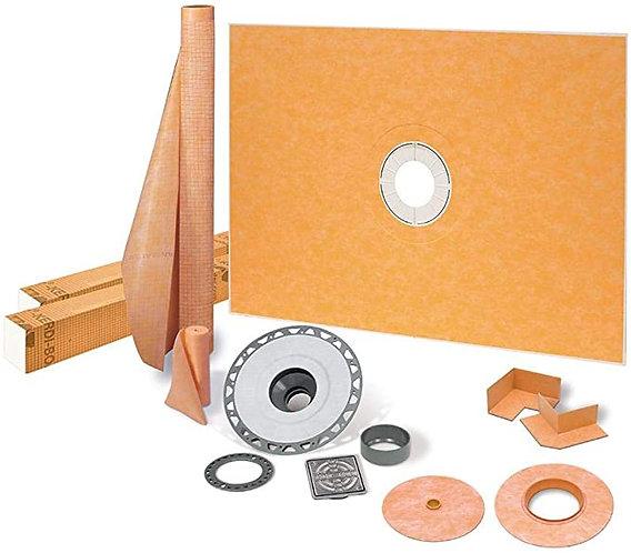 """SCHLUTER KERDI-SHOWER 38"""" x 60"""" Center Drain Shower Kit"""