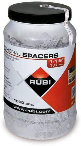 RUBI TOOLS Spacers 1/16 In. (JAR-1000 UN.