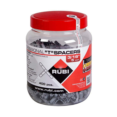 "Rubi Tools 02398 Tile""T"" Spacers 3/16 in. (5mm) JAR-400-400 Pieces"