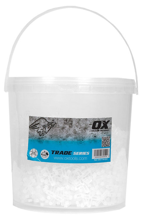 "OX Tools OX-T161231 OX Trade 3/16"" Hard Plastic Spacers Cross (Pack of 1000)"