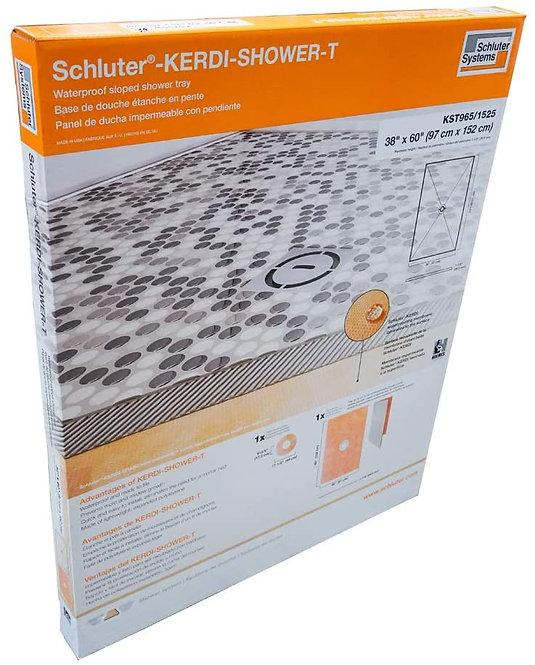 "Schluter Kerdi 38"" x 60"" Shower Tray Center Drain 1-1/8"" Perimeter Height"