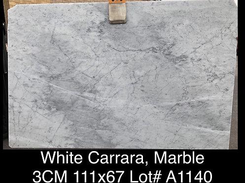 WHITE CARRARA 3CM POLISHED - A1140