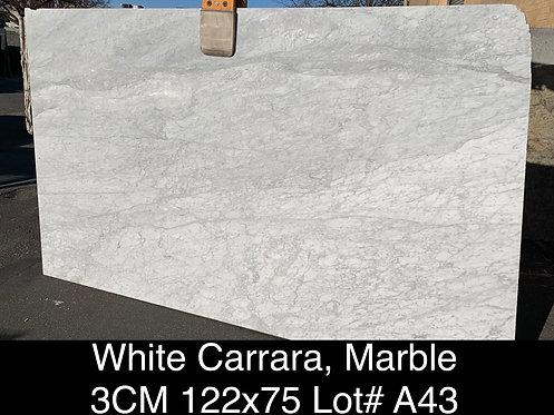 WHITE CARRARA 3CM POLISHED SLAB