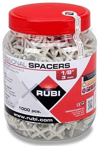RUBI TOOLS Spacers 1/8 In. (JAR-1000 UN.)