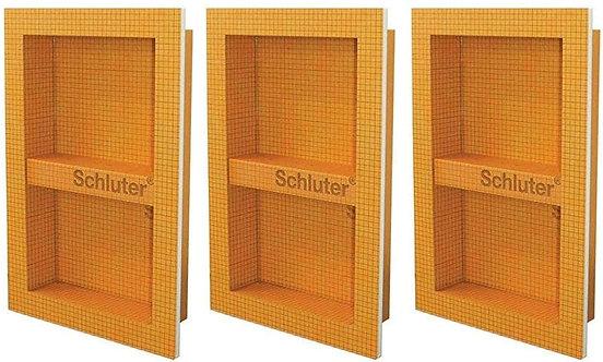 """Schluter KERDI-BOARD-SN: Shower Niche (with shelf) 12""""x28"""" (Three Pack)"""
