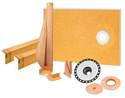 "Schluter Kerdi-Shower Kit 38"" x 60"", Offset ABS Flange"