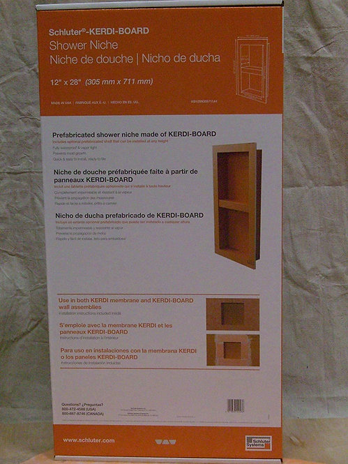 "Schluter KERDI-Board-SN: Shower Niche (with Shelf) 12""x28"" (1)"