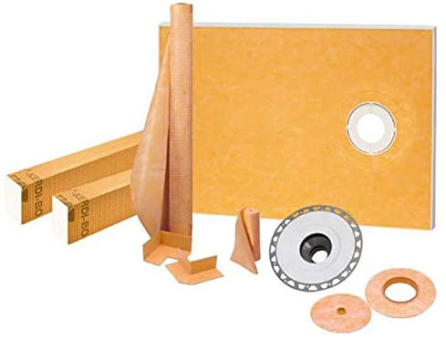 "Schluter Kerdi-Shower Kit 38"" x60"", Offset PVC Flange"