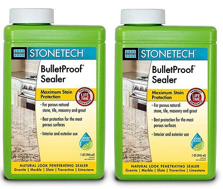 StoneTech Professional BulletProof Stone Sealer, 1-Quart, 2 Pack