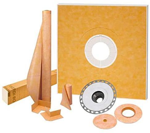 "Schluter Kerdi-Shower Kit 48"" x 48"", PVC Flange"