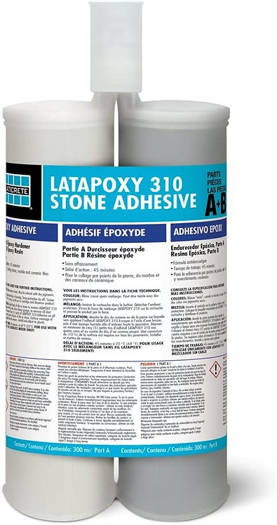 Laticrete Latapoxy 310 Epoxy Stone Adhesive - 2 x 300ml Cartridges (310 Regular)