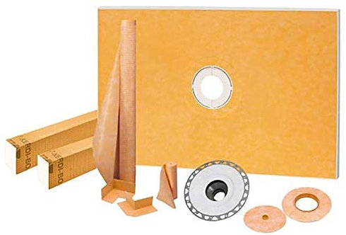 "Schluter Kerdi-Shower Kit 48"" x 72"", PVC Flange"