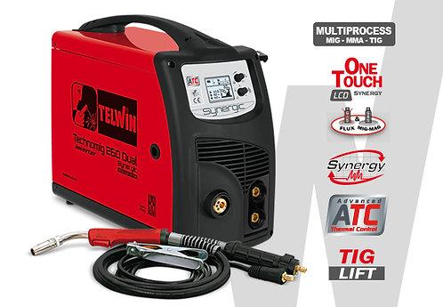 Saldatrice inverter a filo Telwin Technomig 260 Dual Synergic