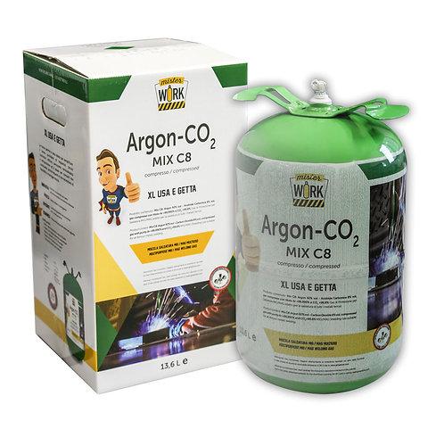 Bombola Usa e Getta xl 13,6L Miscela Argon/Co2 per saldatura Mig