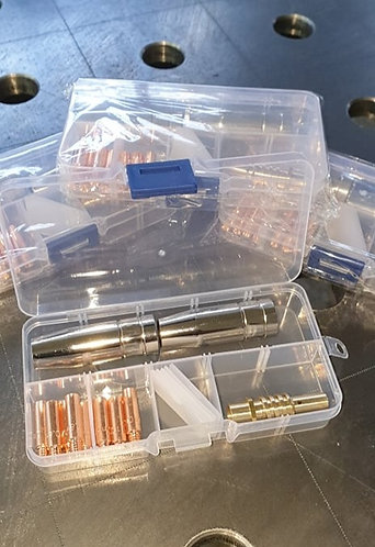 Punta di contatto, Diffusore Gas, Kit per saldatura Mig per Torcia AK 15
