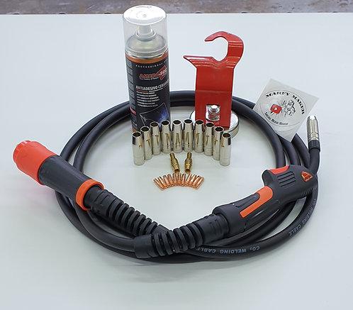 Torcia MIG 15 Professionale 4 MT completa di accessori con snodi