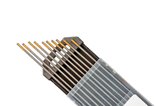 Elettrodi di tungsteno ORO 2,4 mm x 175 mm  Saldatura Tig Acciaio Inox