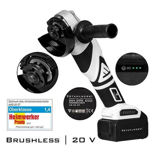 Smerigliatrice angolare a batteria senza spazzole AWS-20 ST 20V / 4Ah