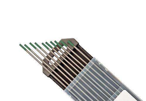 Elettrodi di tungsteno Verde 2,4 mm x 175 mm  Saldatura Tig Alluminio