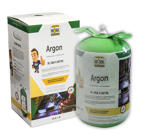 Bombola Usa e Getta xl 13,6L  Argon per saldatura TIG