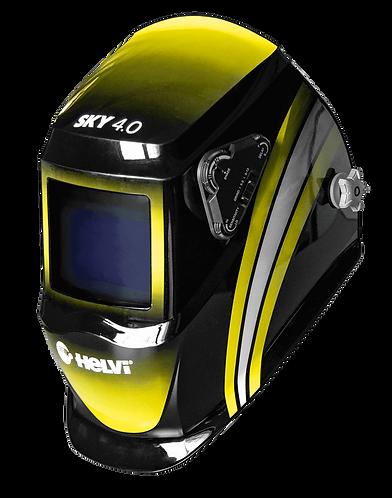 Maschera Casco Autoscurante Saldatura TIG, MIG, Eletttrodo, 4 sensori Helvi Sky