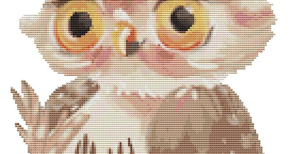 Baby Owl Cross Stitch Pattern