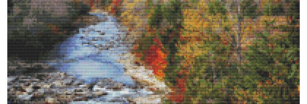Autumn Creek Cross Stitch Pattern