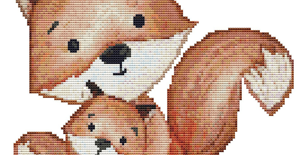 Woodland Baby #1 Cross Stitch Pattern