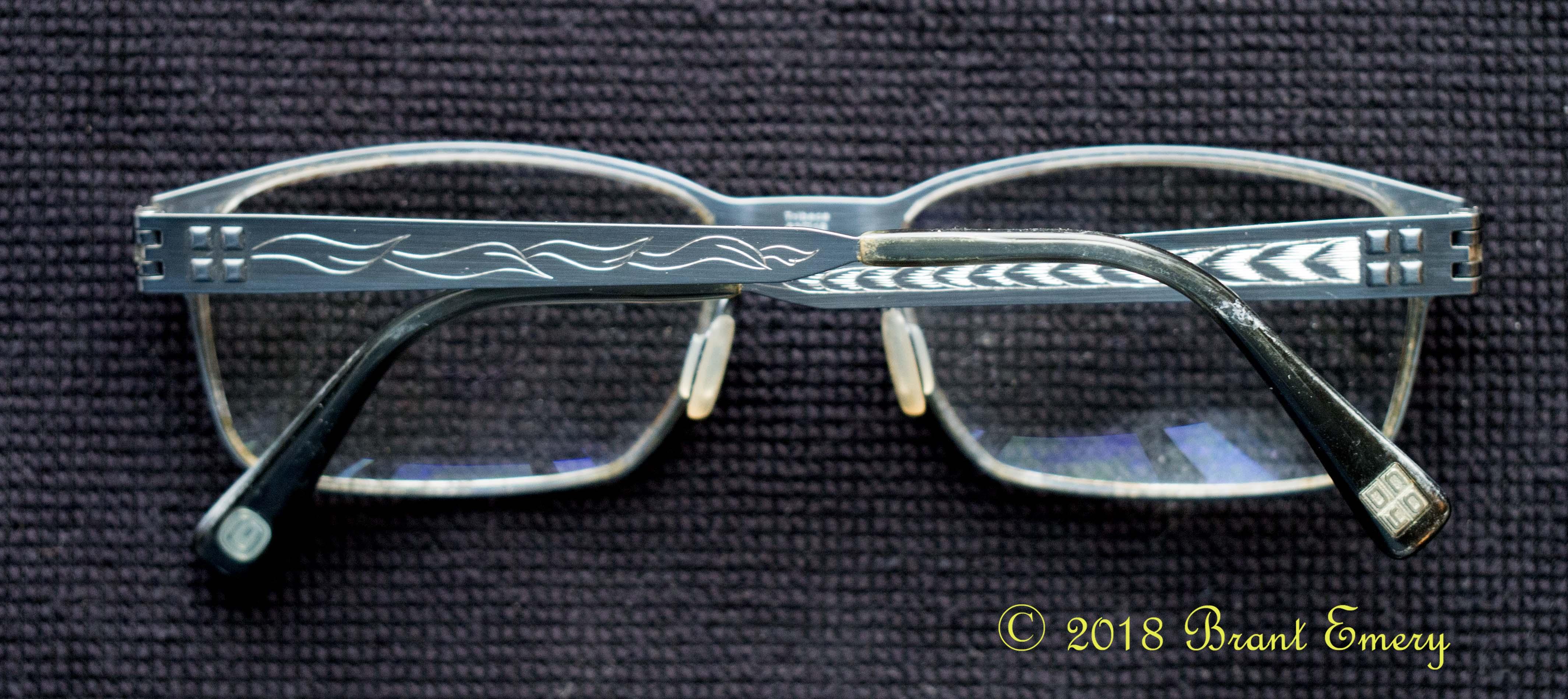 Titanium eye glasses c