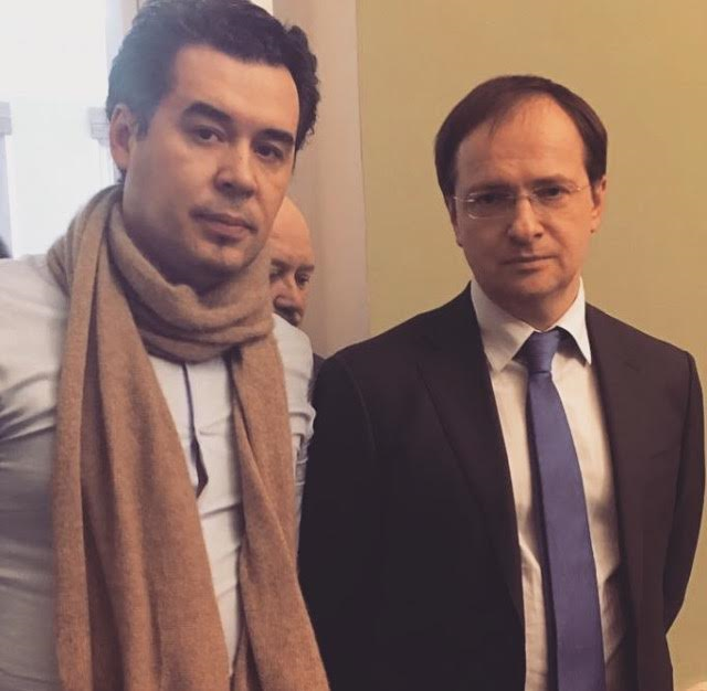 Pavel Rudanovsky and Minister of Culture Vladimir Medinsky