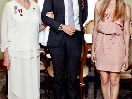 Организована встреча с прессой в рамках официального визита Ее Величества Княгини Бурбон Тарии Витор