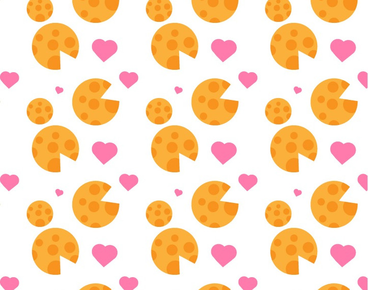 Cheese and Hearts Pattern